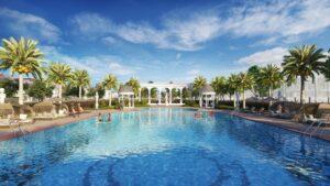 Bể bơi ngoài trời phong cách resort - một trong những tiện ích đặc quyền của phân khu đóng